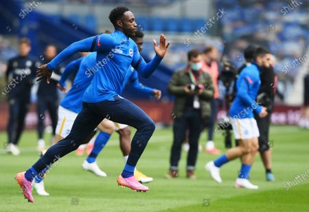 Stock Image of Danny Welbeck and teammates of Brighton warm up before the English Premier League soccer match between Brighton Hove Albion and Leeds United in Brighton, Britain, 01 May 2021.