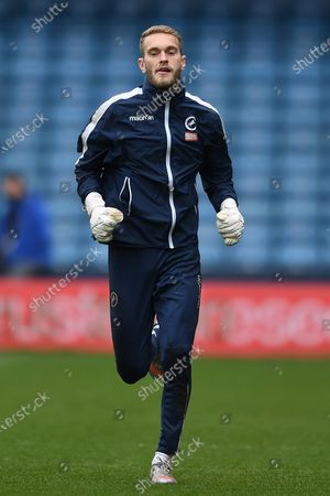 Millwall Goalkeeper Joe Wright(41)  during the EFL Sky Bet Championship match between Millwall and Bristol City at The Den, London