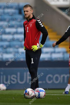 portrait Bristol City Goalkeeper Daniel Bentley (1)  during the EFL Sky Bet Championship match between Millwall and Bristol City at The Den, London