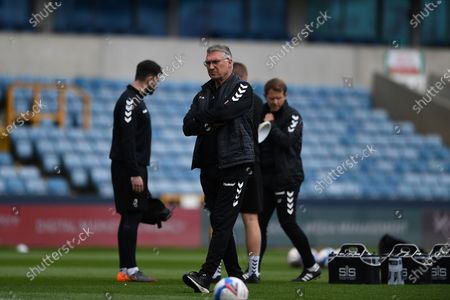 Bristol City Manager Nigel Pearson  during the EFL Sky Bet Championship match between Millwall and Bristol City at The Den, London