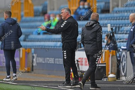Bristol City Manager Nigel Pearson  in the technical area during the EFL Sky Bet Championship match between Millwall and Bristol City at The Den, London