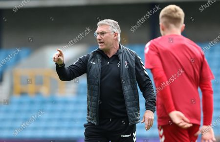 Nigel Pearson manager of Bristol City giving instructions to his players during Millwall vs Bristol City, Sky Bet EFL Championship Football at The Den on 1st May 2021