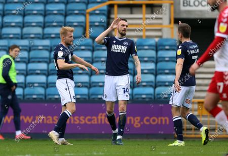 second goal scored for Millwall by Scott Malone of Millwall as he celebrates during Millwall vs Bristol City, Sky Bet EFL Championship Football at The Den on 1st May 2021