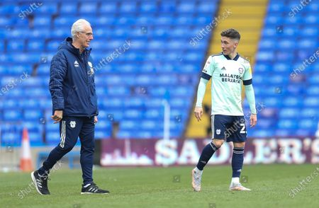Cardiff City manager Mick McCarthy with Harry Wilson of Cardiff City who scored three of Cardiff's four goals