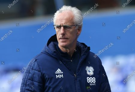 Stock Image of Cardiff City manager Mick McCarthy heads to the changing room at half time