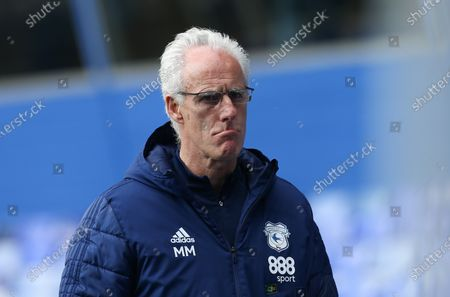 Cardiff City manager Mick McCarthy heads to the changing room at half time