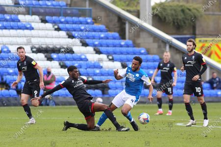 Stock Picture of Nathan Thompson Peterborough United in action against Lincoln City