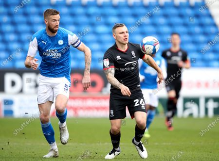 Editorial photo of Peterborough United v Lincoln CIty EFL League One match, Peterborough, Cambridgeshire, UK on May 1, 2021, Peterborough, Peterborough, England - 01 May 2021