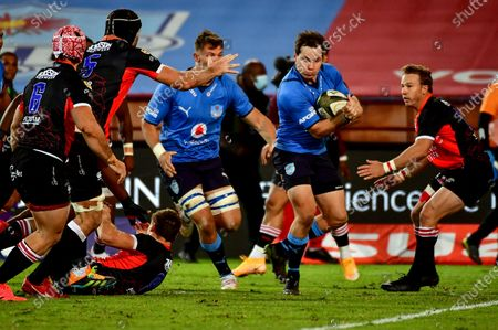Stock Picture of Vodacom Bulls vs Emirates Lions. Bulls' Christopher Smith makes a break