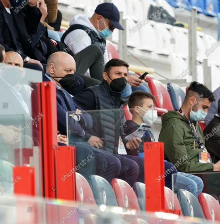 """Javier Zanetti of Fc Internazionale during the Serie A match between Fc Crotone and Fc Internazionale Milan on May  01, 2021 stadium """"Ezio Scida"""" in Crotone, Italy"""