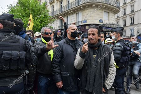 Editorial image of Labour Day demonstrations, Paris, France - 01 May 2021