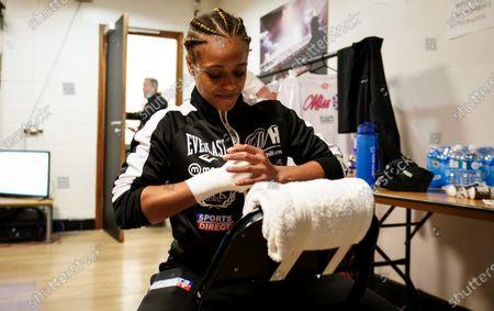 Natasha Jonas prepares ahead of her fight