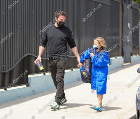 Ben Affleck is seen with his son, Samuel Affleck, after swim lessons