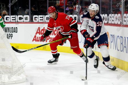 Editorial photo of Blue Jackets Hurricanes Hockey, Raleigh, United States - 01 May 2021