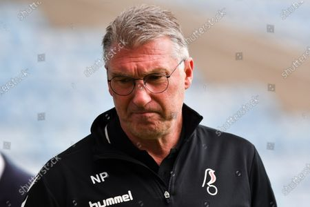 Bristol City manager Nigel Pearson before the Sky Bet Championship match between Millwall and Bristol City at The Den, London on Saturday 1st May 2021.