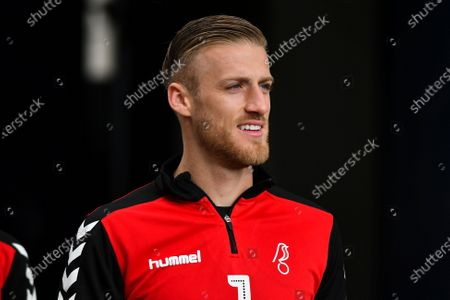 Daniel Bentley of Bristol City before the Sky Bet Championship match between Millwall and Bristol City at The Den, London on Saturday 1st May 2021.