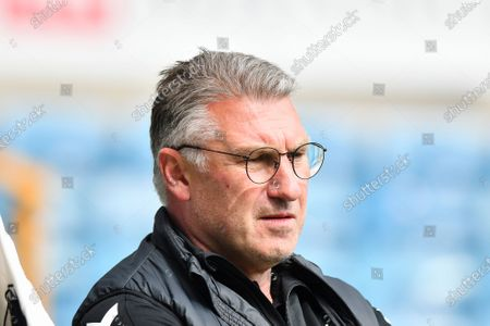 Bristol City manager Nigel Pearson looks on before the Sky Bet Championship match between Millwall and Bristol City at The Den, London on Saturday 1st May 2021.