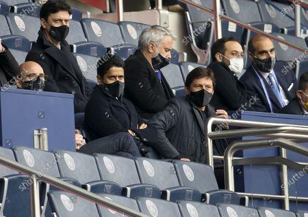 President of PSG Nasser Al Khelaifi, Sporting Director of PSG Leonardo Araujo