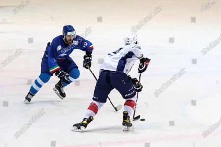 Editorial image of Italy vs France, Friendly, Ice Hockey, Palasport, Aosta, Italy - 01 May 2021