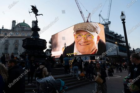 A new video work by British artist DAVID HOCKNEY titled Remember you cannot look at the sun or death for very long is shown on London's Piccadilly Lights. Created in the artists iPad, the work coincides with the release of his new book Spring Cannot Be Cancelled and his Royal Academy exhibition The Arrival of Spring, Normandy, 2020.