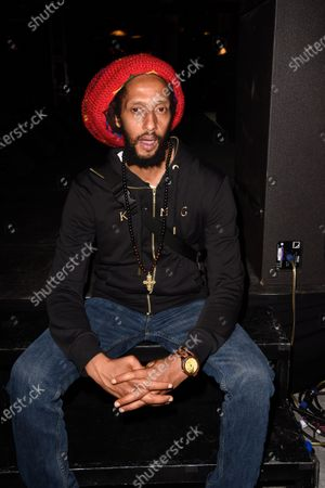 Julian Marley backstage after the Major Lazer concert