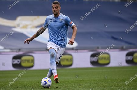 Lazio's Sergej Milinkovic-Savic in action during the Italian Serie A soccer match between SS Lazio and Genoa CFC at the Olimpico stadium in Rome, Italy, 02 May 2021.