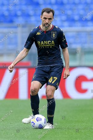 Milan Badelj of Genoa CFC during the Serie A match between SS Lazio and Genoa CFC at Stadio Olimpico, Rome, Italy on 2 May 2021.