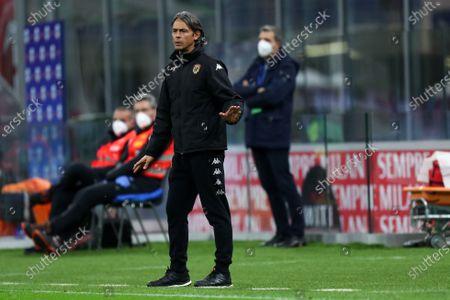 Filippo Inzaghi, head coach of Benevento Calcio,