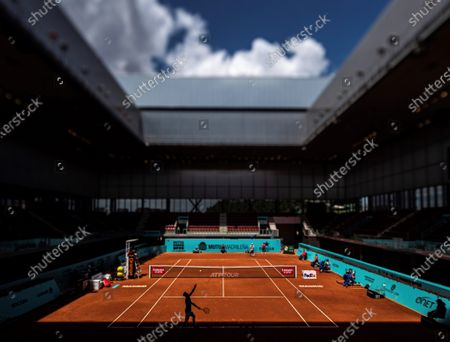 General view during the match between Pedro Martinez of Spain and Tommy Paul of US at the Mutua Madrid Open tennis tournament, in Madrid, Spain, 02 May 2021.