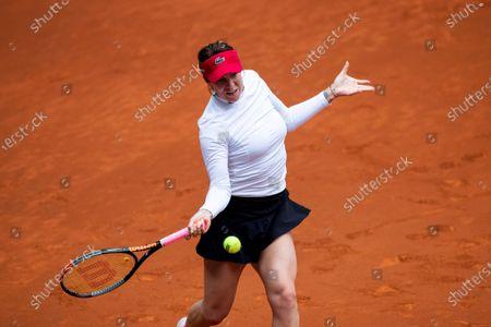Anastasia Pavlyuchenkova of Russia in action during her match against Karolina Pliskova of Czech Republic at the Mutua Madrid Open tennis tournament, in Madrid, Spain, 02 May 2021.