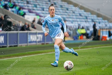 Manchester City Women defender Lucy Bronze (20) during the FA Women's Super League match between Manchester City Women and BIrmingham City Women at the Sport City Academy Stadium, Manchester