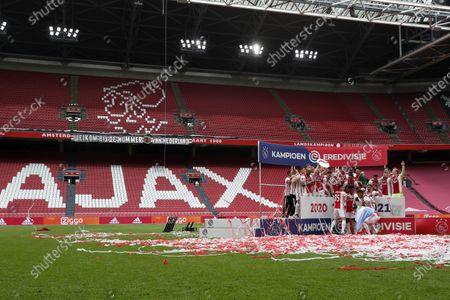 Editorial photo of Ajax Amsterdam v FC Emmen, Dutch Eredivisie, Amsterdam, Netherlands - 02 May 2021