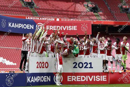 Editorial image of Ajax Amsterdam v FC Emmen, Dutch Eredivisie, Amsterdam, Netherlands - 02 May 2021