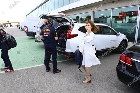 Geri and Christian Horner, Team Principal, Red Bull Racing during the 2021 Formula One Portuguese Grand Prix