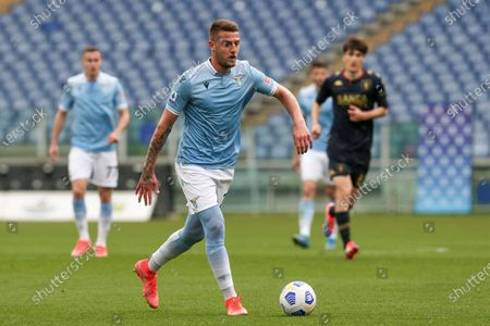 Sergej Milinkovic-Savic (Lazio) in action during the Serie A match between SS Lazio vs Genoa CFC at Stadio Olimpico on May 2, 2021 in Rome, Italy.  Lazio wins 4-3.