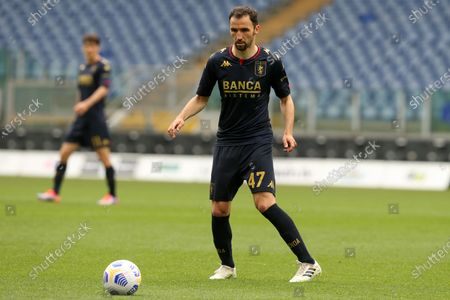 Milan Badelj (Genoa) in action during the Serie A match between SS Lazio vs Genoa CFC at Stadio Olimpico on May 2, 2021 in Rome, Italy.  Lazio wins 4-3.