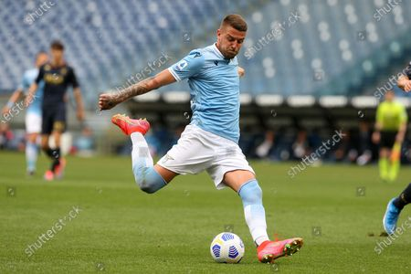 Stock Picture of Sergej Milinkovic-Savic (Lazio) in action during the Serie A match between SS Lazio vs Genoa CFC at Stadio Olimpico on May 2, 2021 in Rome, Italy.  Lazio wins 4-3.