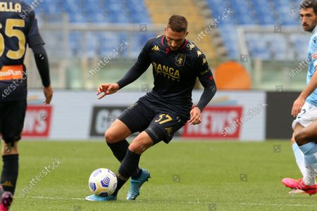 Marko Pjaca (Genoa) in action during the Serie A match between SS Lazio vs Genoa CFC at Stadio Olimpico on May 2, 2021 in Rome, Italy.  Lazio wins 4-3.