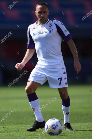 "Franck Ribery (Fiorentina)        during the Italian ""Serie A"" match between Bologna 3-3 Fiorentina  at  Renato Dall Ara Stadium in Bologna, Italy."
