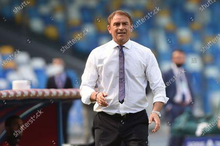 Leonardo Semplici Head Coach of Cagliari Calcio during the Serie A match between SSC Napoli and Cagliari Calcio at Stadio Diego Armando Maradona Naples Italy on 2 May 2021.