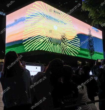 Editorial photo of Digital sunrise unveiled, Seoul, Korea - 03 May 2021
