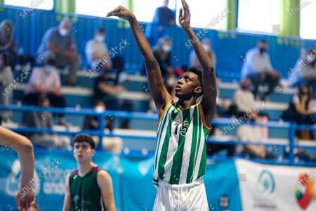 Pepe Aba in action during the Andalusia Basketball Championship U19 final game between CB Unicaja and Real Betis Baloncesto at Ciudad Deportiva Regino Hernandez in Mijas. (Final score CB Unicaja 82:67 Real Betis Baloncesto)