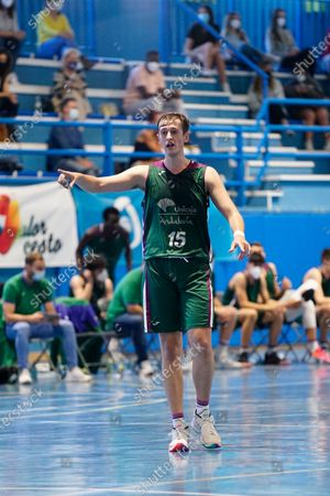 Pablo Leon in action during the Andalusia Basketball Championship U19 final game between CB Unicaja and Real Betis Baloncesto at Ciudad Deportiva Regino Hernandez in Mijas. (Final score CB Unicaja 82:67 Real Betis Baloncesto)