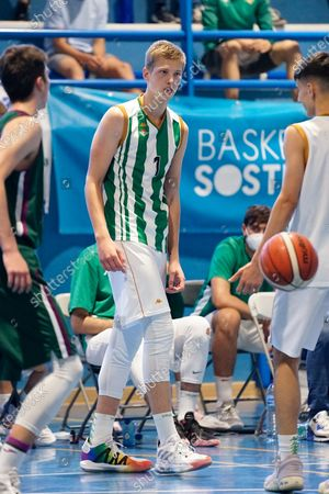 Luis Garcia Perez in action during the Andalusia Basketball Championship U19 final game between CB Unicaja and Real Betis Baloncesto at Ciudad Deportiva Regino Hernandez in Mijas. (Final score CB Unicaja 82:67 Real Betis Baloncesto)