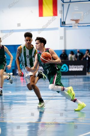 Javier Luque Gomez in action during the Andalusia Basketball Championship U19 final game between CB Unicaja and Real Betis Baloncesto at Ciudad Deportiva Regino Hernandez in Mijas. (Final score CB Unicaja 82:67 Real Betis Baloncesto)