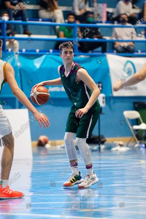 Rafael Santos in action during the Andalusia Basketball Championship U19 final game between CB Unicaja and Real Betis Baloncesto at Ciudad Deportiva Regino Hernandez in Mijas. (Final score CB Unicaja 82:67 Real Betis Baloncesto)