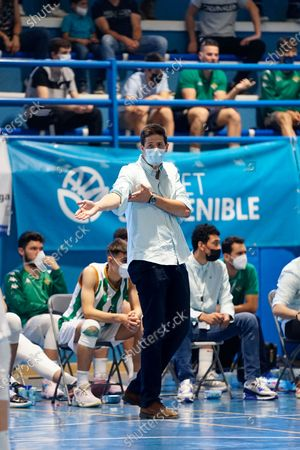Real Betis Coach, Pablo Gonzalez Ales in action during the Andalusia Basketball Championship U19 final game between CB Unicaja and Real Betis Baloncesto at Ciudad Deportiva Regino Hernandez in Mijas. (Final score CB Unicaja 82:67 Real Betis Baloncesto)