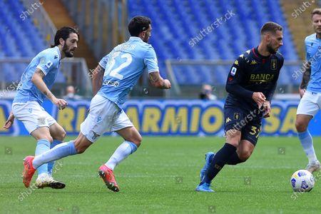 Marko Pjaca of CFC Genoa during the Serie A League football match between Lazio vs Genoa at Olimpico stadium