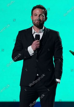 """Ben Affleck speaks at """"Vax Live: The Concert to Reunite the World"""", at SoFi Stadium in Inglewood, Calif"""
