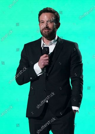 """Ben Affleck speaks at Vax Live: The Concert to Reunite the World"""", at SoFi Stadium in Inglewood, Calif"""